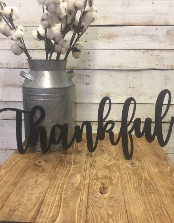 Thankful Wooden Sign Thanksging Wood Sign Thankful Wood Sign Laser