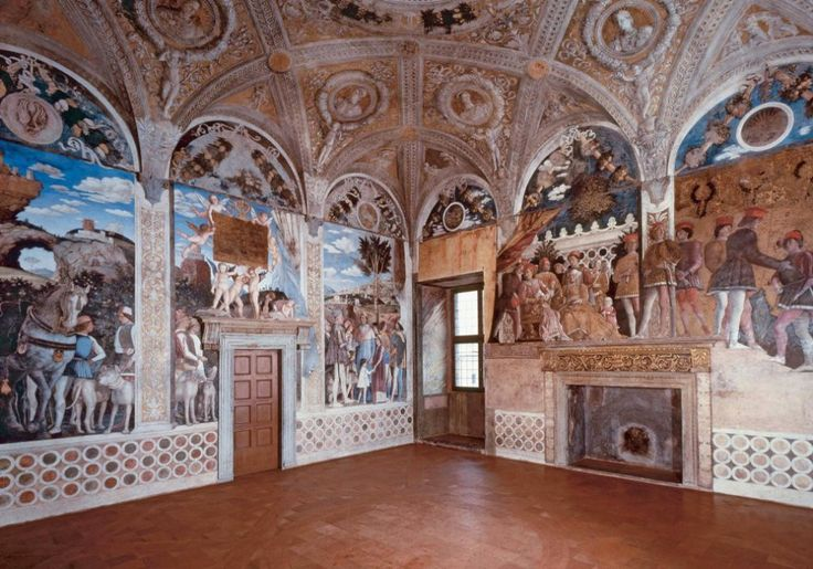 """Andrea Mantegna, """"Camera degli Sposi"""", 1465-74, affreschi, Mantova, Castello di San Giorgio."""