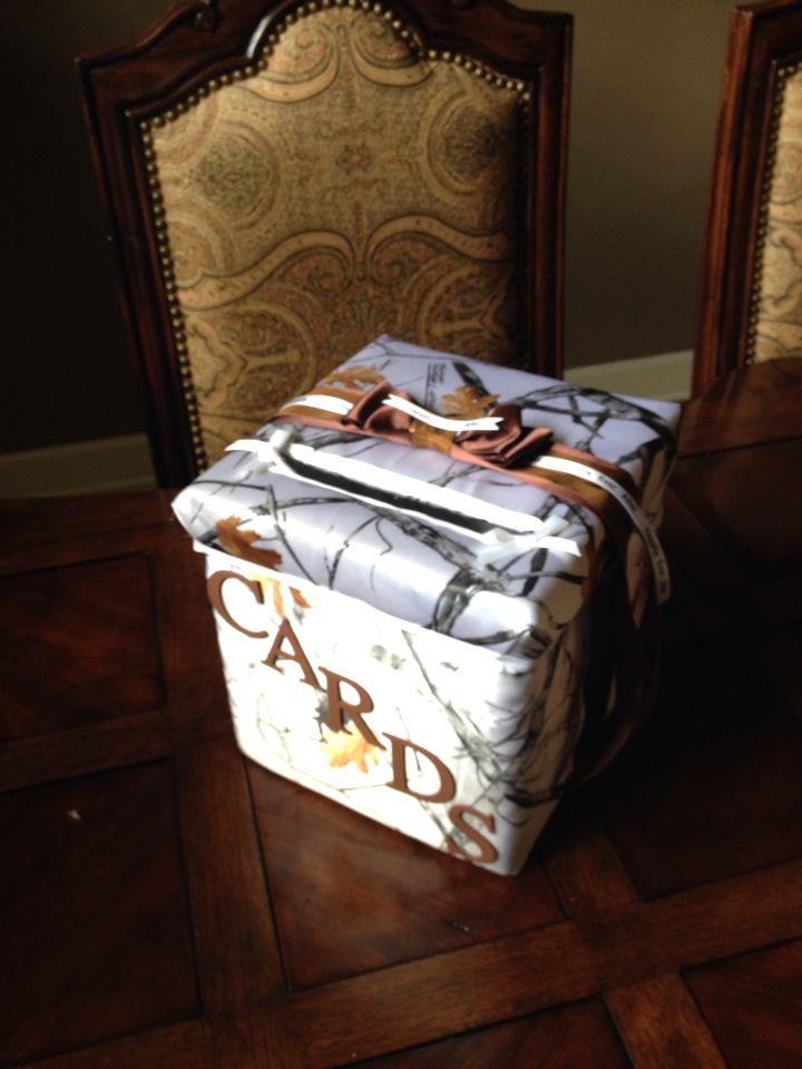 Snow Camo wedding gift card box