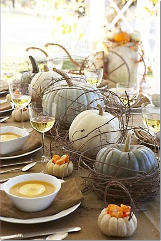 Silver Thanksgiving Tablescape