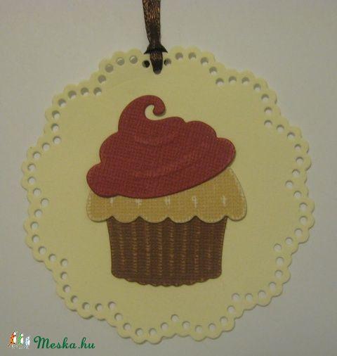 Ajándékkísérő - születésnapra,  muffin süteményhez - esküvőre köszönetajándékhoz
