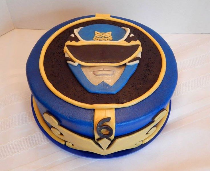 Mighty Morphin Power Rangers Griffon's Mighty Morphin' Power Rangers cake! A 10 inch round, blue power ranger cake and a jumbo...