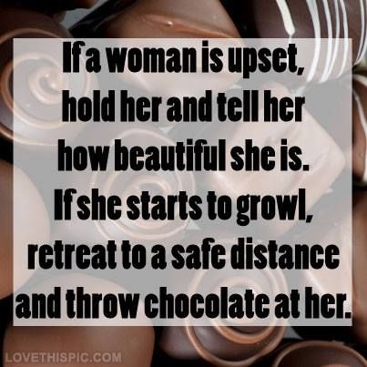 Start with the chocolate