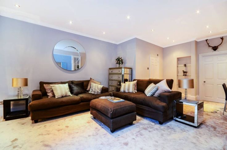 Reception room basement flat London SW5 #cutlerandbond #basementflat #gardenflat #londonproperty