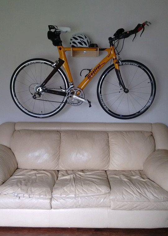 Wooden Bike Display wall Bike Mount bike by HobbywoodCreations