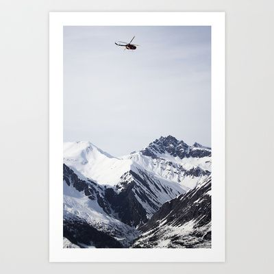 RedBull Helicopter session Art Print by Håkon Jørgensen - $15.00