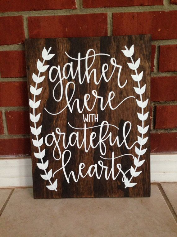 Rustic Home DecorRustic WeddingRustic Wall Decor Gather Wood SignGather