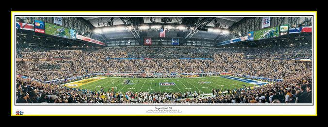 Rob Arra panoramic photo, Pittsburgh Steelers poster Super Bowl XL vs Seattle Seahawks