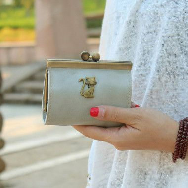 Fashion Women Retro Clutch Hasp Key Change Wallet Purse Card