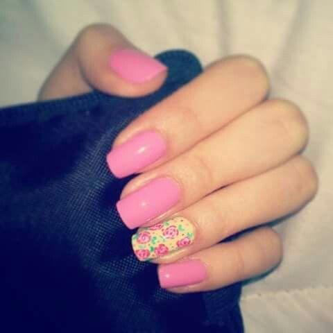 #Cute #Roses #Nails #Nailart