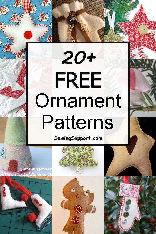 Over 20 Free Diy Fabric Ornaments To Sew For Christmas Ideas For