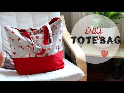 DIY Tote bag ,step by step instructions for beginners - YouTube