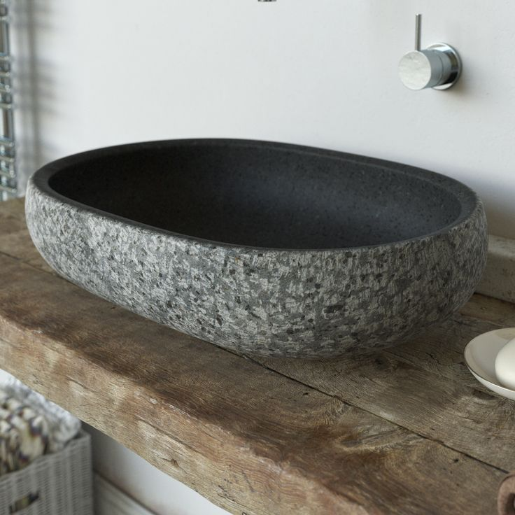 Lava Stone Vessel Wash Basin Worked Upon By Hand With Rock Face Effect #sink  #