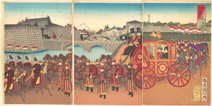View of the Imperial Carriage 1889 (Meiji 22) メトロポリタン美術館