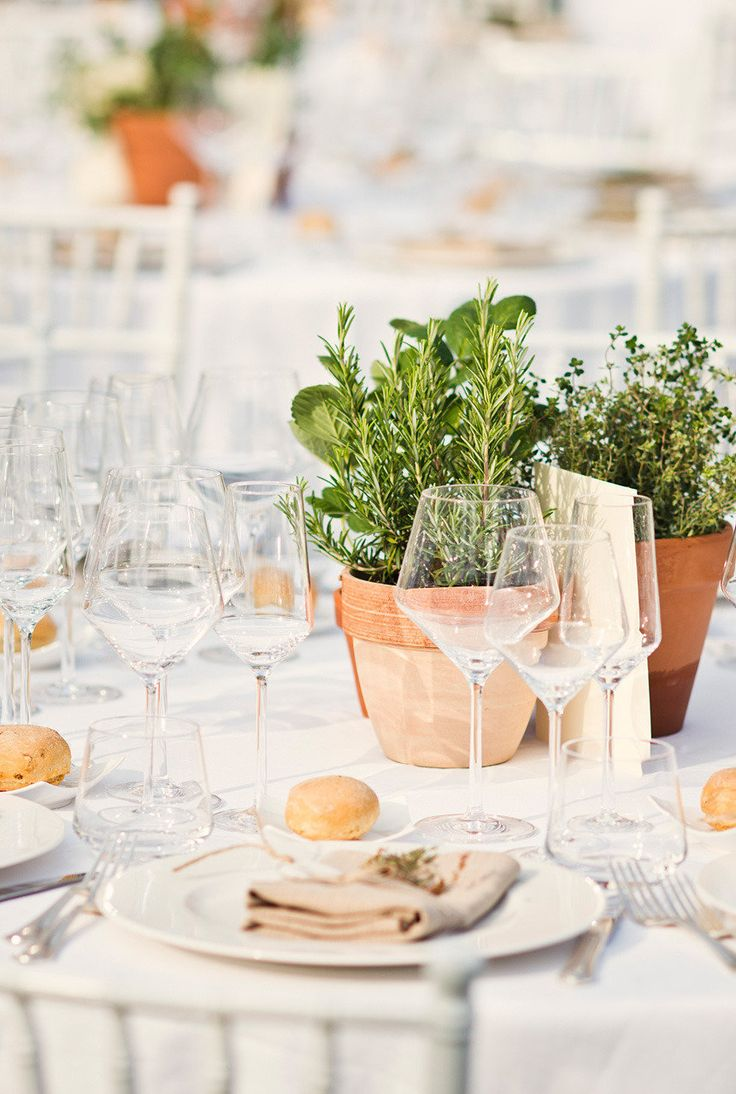 Italian table decorations - Definitely Would Like To Try To Incorporate Herbs Into Table Settings Love The Bright Color