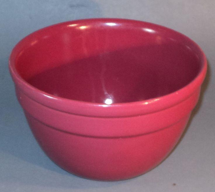 Art Deco FOWLER WARE PLUM PINK MIXING BOWL Vintage Australian Pottery