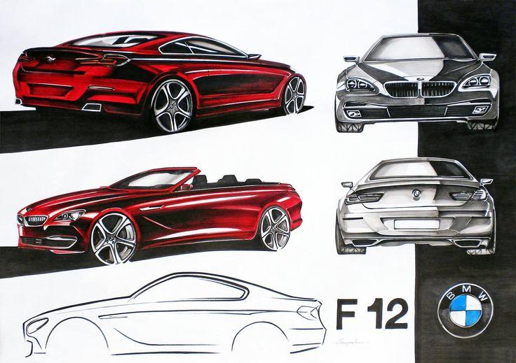 BMW 6 series markers 70x50cm drawn in 2011  by Piotr Krzyczkowski