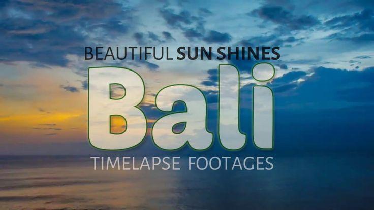 Beautiful Sunshine in Bali | Timelapse Footage