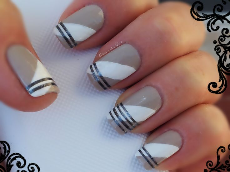 #nailart Chanel #nails #style #classy #taupe #freehand