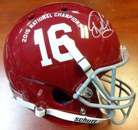 Derrick Henry Autographed Alabama Crimson Tide 2015 National Championship Logo Full Size Helmet PSA/DNA ITP