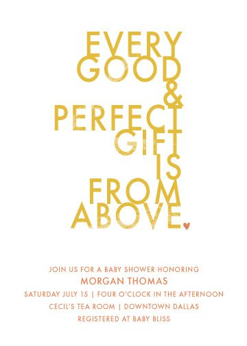 baby shower invitations - heaven sent by a la amore
