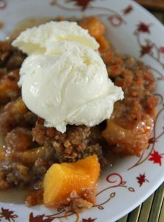 Peach Crumble - Mayo Clinic's healthy recipe - easy and delicious! Try adding berries for a change of taste.
