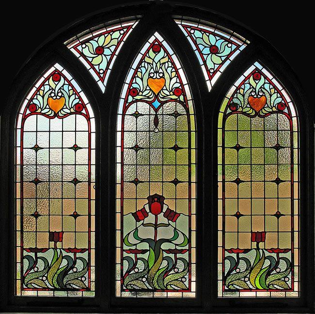 Victorian Gothic arch window