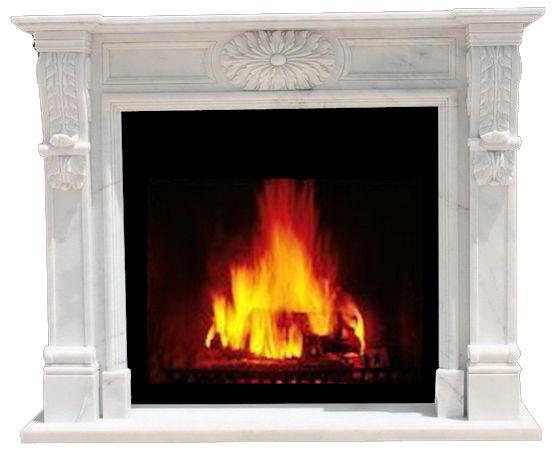 Weißer Marmorkamin | White Marble Chimney / Fireplace | Exklusiver,  Handgearbeiteter Kamin Aus Naturstein,