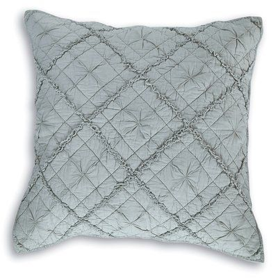 Calla Angel Diamond Applique Pillow Sham Size: Standard, Color: Fog