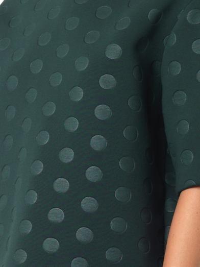 Stella McCartney Polka-dot embossed neoprene top