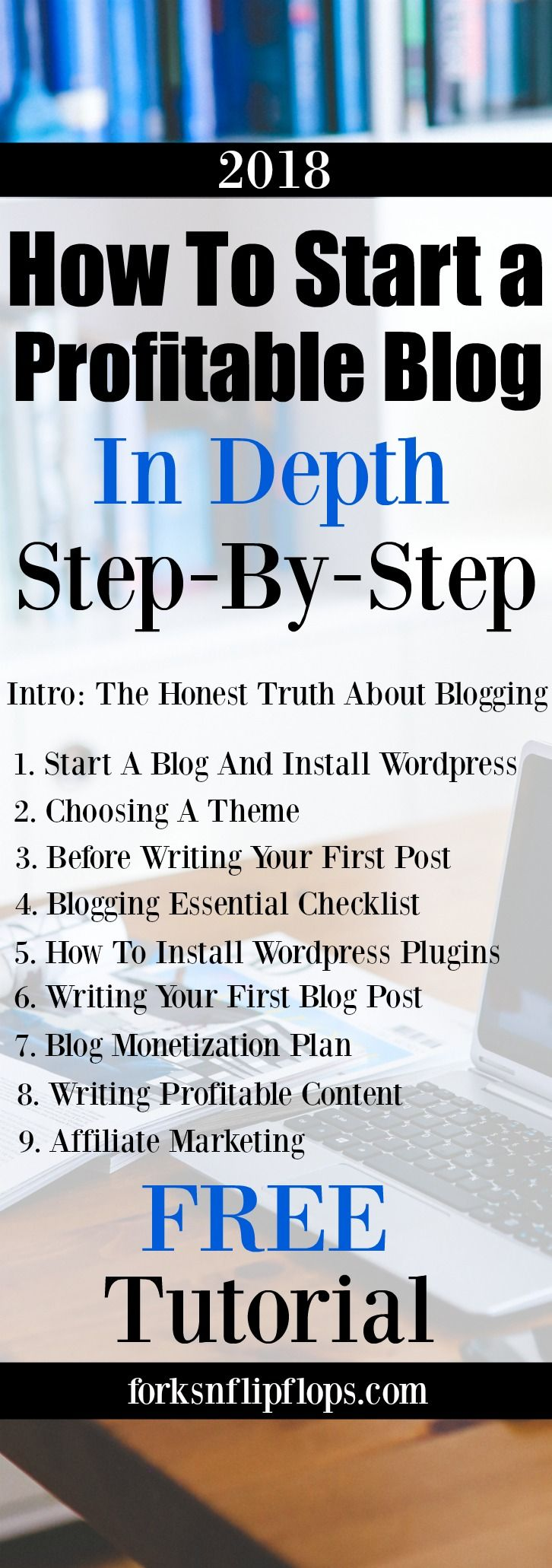 Start the new year starting a blog. How to start a blog and make money from home with this FREE Tutorial! Follow along with the step by step lessons to setup a blog in Wordpress. Having a solid blogging framework is crucial to have blogging income. My Blog Income Report included.