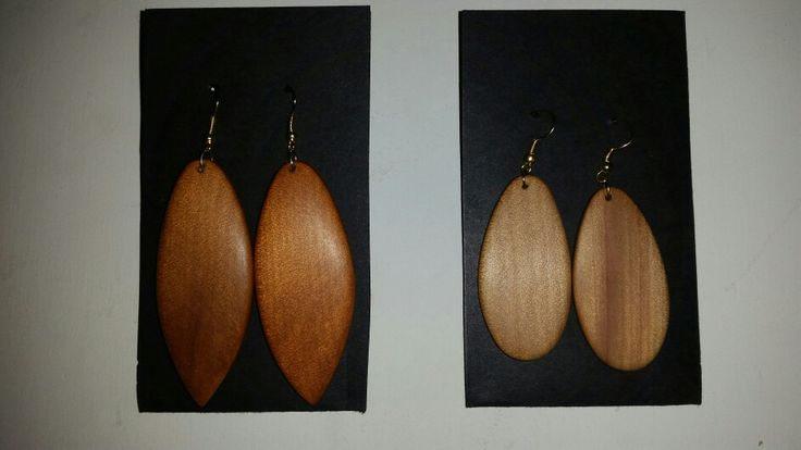 Ancient swamp kauri earings by Sharon Hale