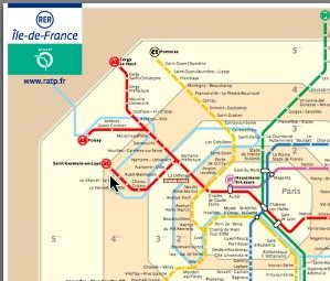 The Paris RER is 5 express train lines connecting Paris city centre to surrounding suburbs. In Paris the RER acts as an express underground or subway train.