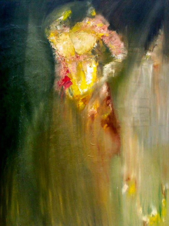 """""""The skin depth"""" """"La profundidad de la piel"""" Oil on canvas 160x90 cms"""