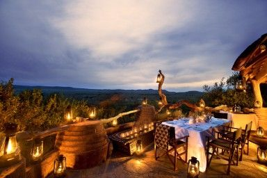 Madikwe Lodge - [Deck view]  North West Province - Africa