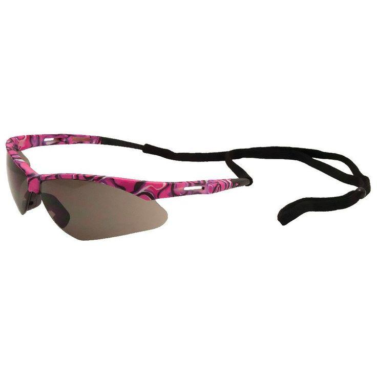 Erb annie pink camo safety glasses pink camo eye