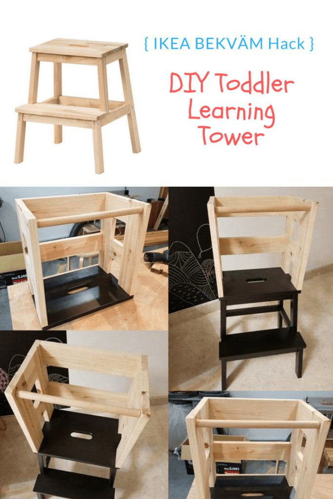 Toddler Learning Tower From Upcycled Material Ikea Hacks