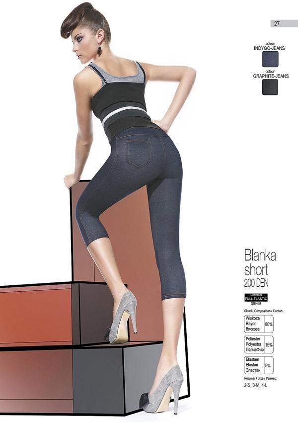 BLANKA SHORT Designer Leggings - denim pants look that we love! Made in Europe. http://www.avec-moi.com.au/index.php/leggings-footless/blanka-short-200-den-detail