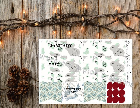 January Monthly kit for Happy Planner or Erin Condren...From The Avalon Winter Line