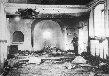 Desecration and destruction of the Church of Salichli by the Kemalist forces.