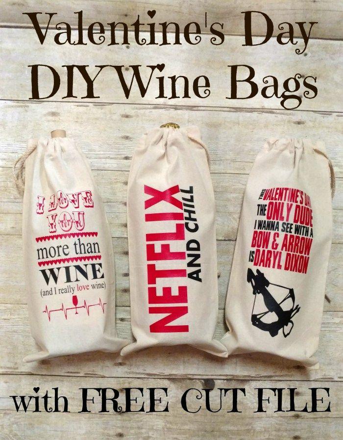 Valentine's Day DIY Wine Bags - My Paper Craze