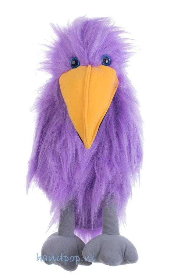 Mooi paars is niet lelijk en dat geldt zeker voor deze 45 cm grote vogel dierpop van The Puppet Company. Eenvoudig maar toch opvallend.