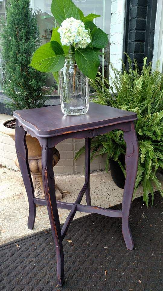 CeCe Caldwellu0027s Loomis Eggplant On Side Table; Designed By Charm And  Tradition In Enterprise,