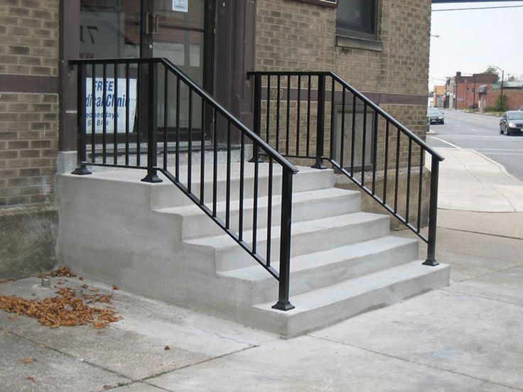 Wrought Iron, Black / Brown | Wrought iron stair railing ...
