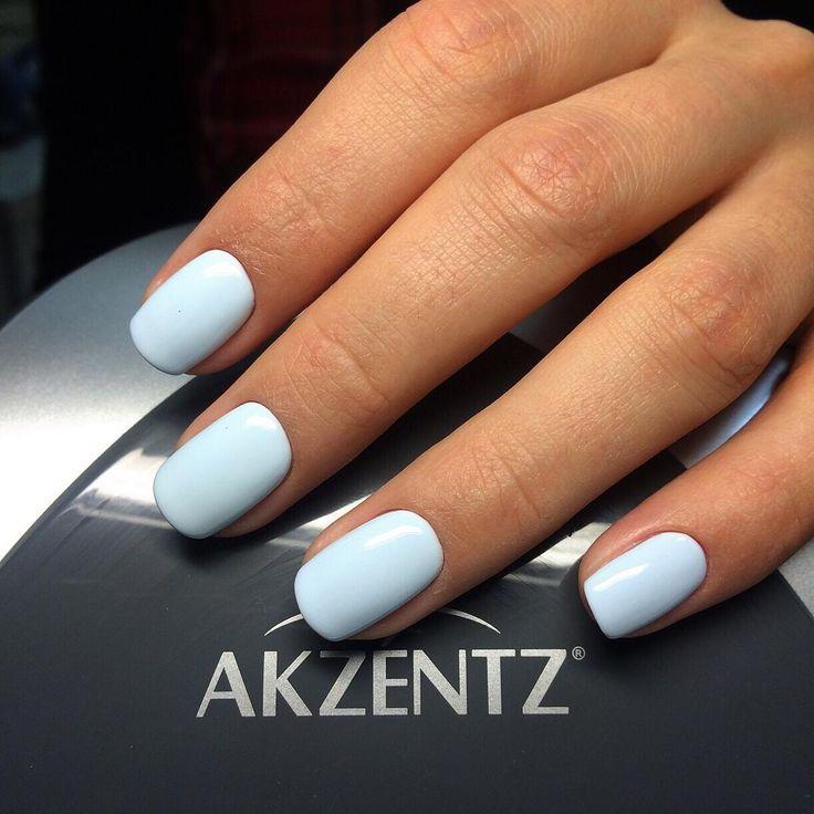 Luxio Soak Off Gel Polish (by Akzentz) - Breathless (pastel blue creme) - High Quality Professional Soak Off Gel Polish (100% Gel - No Solvents)