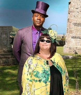 """Dawn French, here with her hubby, another god comidian, Lenny Henry! Lenny Henry did an awesome job narrating """"The Anansi Boys"""" by Neil Gaiman."""