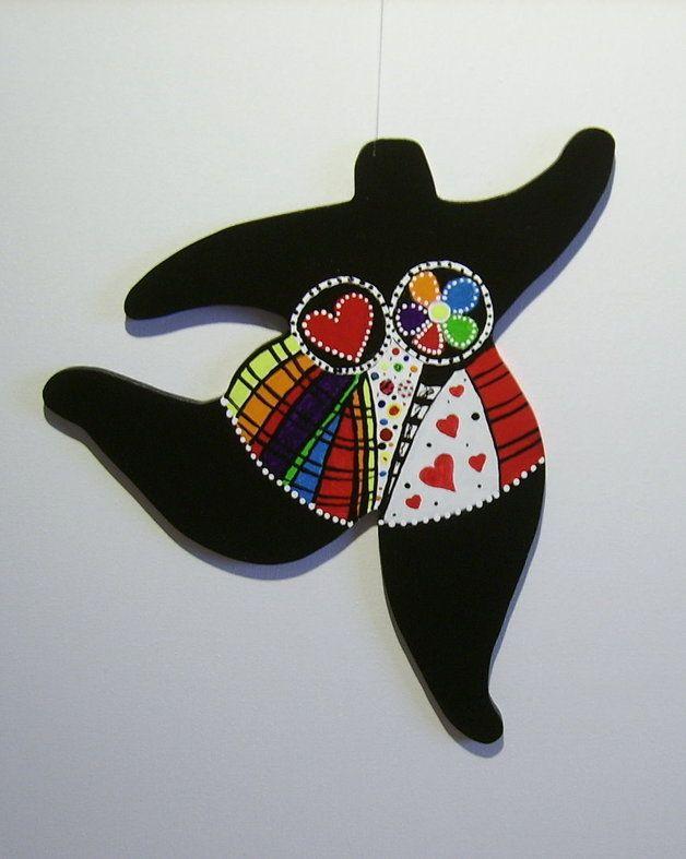 Nana Figur Holz frei gestaltet Niki de St Phalle