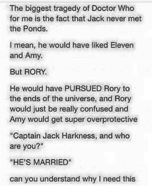 I love this but I think Amy would have fun teasing Rory with Jack.