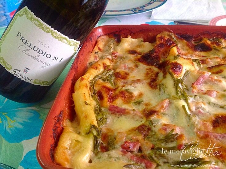 Lasagne asparagi provola e pancetta