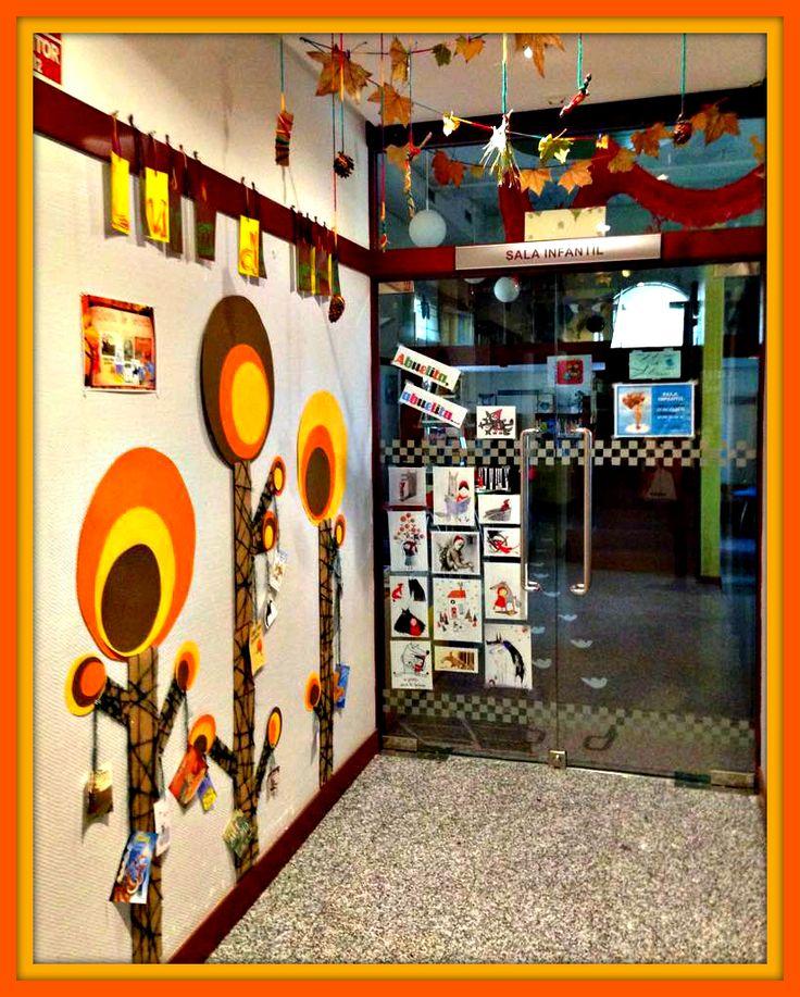 La Sala Infantil de la biblioteca Manuel Alvar se prepara para el #otoño (2015, Zaragoza).
